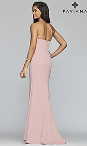 Image of Faviana empire-waist long halter formal dress. Style: FA-S10284 Back Image