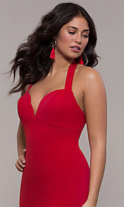Image of Faviana empire-waist long halter formal dress. Style: FA-S10284 Detail Image 5