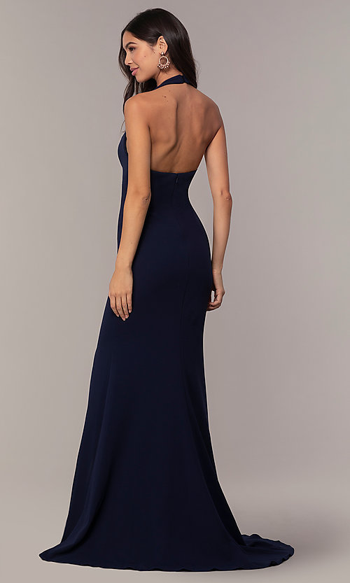 Image of Faviana empire-waist long halter formal dress. Style: FA-S10284 Detail Image 8