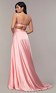 Image of Alyce long formal dress with back cut out. Style: AL-60453 Detail Image 4