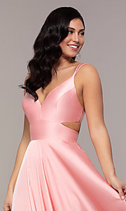 Image of Alyce long formal dress with back cut out. Style: AL-60453 Detail Image 5