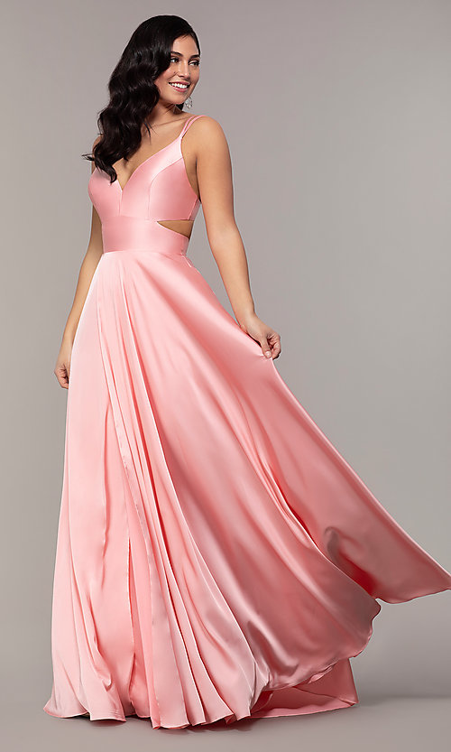 Image of Alyce long formal dress with back cut out. Style: AL-60453 Detail Image 7
