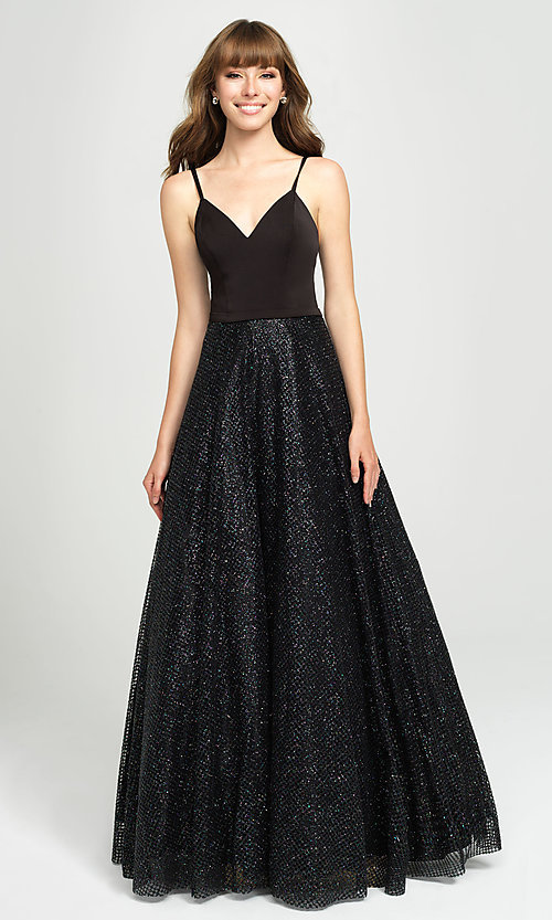 Image of ball-gown-style formal gown by Madison James. Style: NM-19-100 Detail Image 4