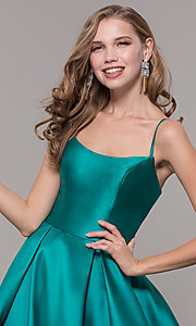 Image of ball-gown-style long formal evening dress. Style: NM-19-107 Detail Image 3