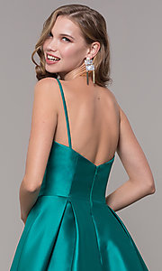 Image of ball-gown-style long formal evening dress. Style: NM-19-107 Detail Image 2