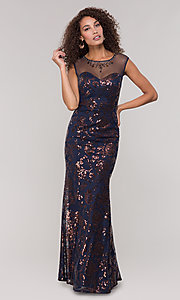 Image of long mother-of-the-bride embellished dress.  Style: IT-7119151 Detail Image 3