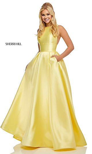 Sherri Hill High-Neck A-Line Formal Gown
