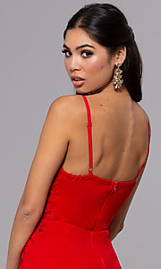 Image of sleeveless long formal sweetheart prom dress. Style: LP-25426 Detail Image 2