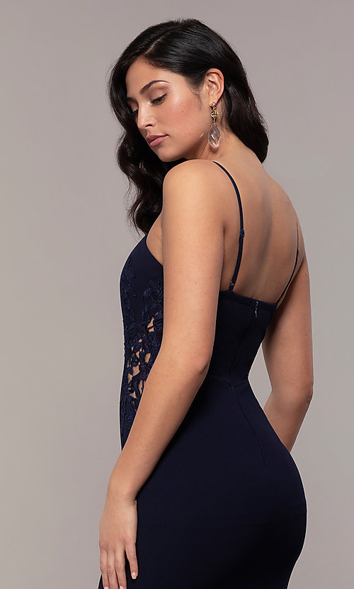 Image of sleeveless long formal sweetheart prom dress. Style: LP-25426 Detail Image 7