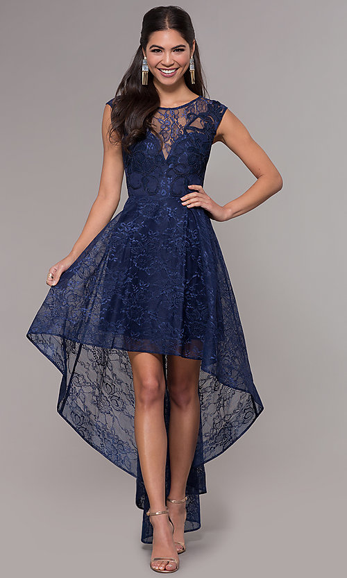 Hi-Low Prom Dresses with Sleeves