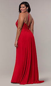 Image of long high-neck plus-size Faviana formal dress. Style: FA-9472 Detail Image 5