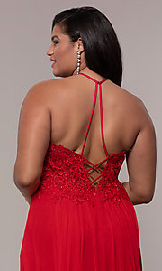 Image of long high-neck plus-size Faviana formal dress. Style: FA-9472 Detail Image 7