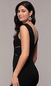 Image of mermaid-style long formal black dress by Simply. Style: LP-SD-24637 Detail Image 2