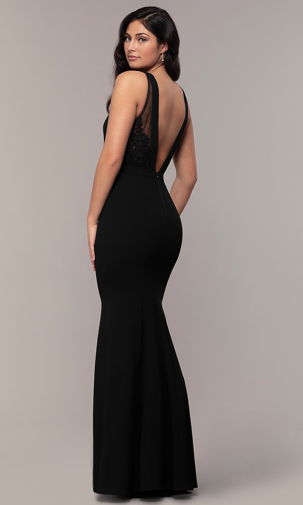 meticulous dyeing processes great discount online shop High-Neck Long Mermaid Formal Dress by Simply