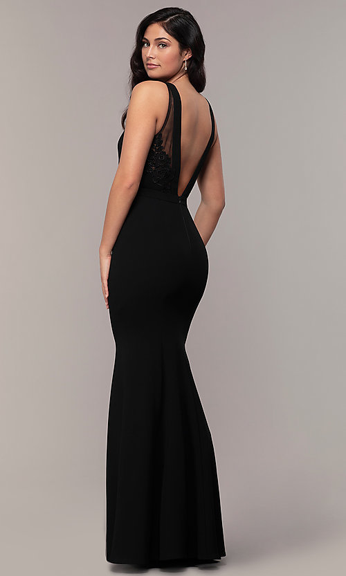 Image of high-neck long mermaid formal dress by Simply. Style: LP-SD-27866 Detail Image 5