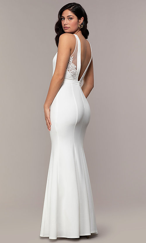 Image of high-neck long mermaid formal dress by Simply. Style: LP-SD-27866 Front Image