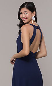 Image of navy blue long formal gown by Simply Style: LP-SD-27901 Detail Image 2