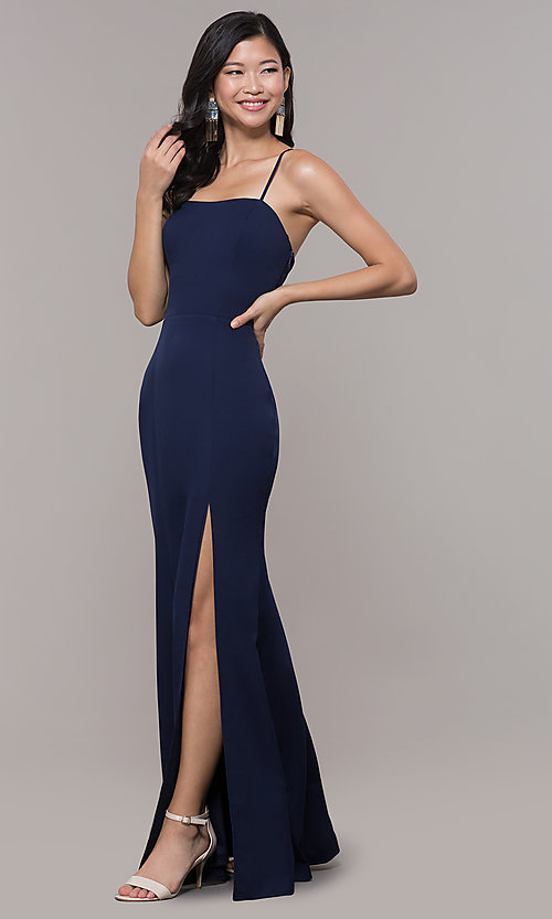 Image of long formal corset military ball dress by Simply. Style: LP-SD-27604 Detail Image 1