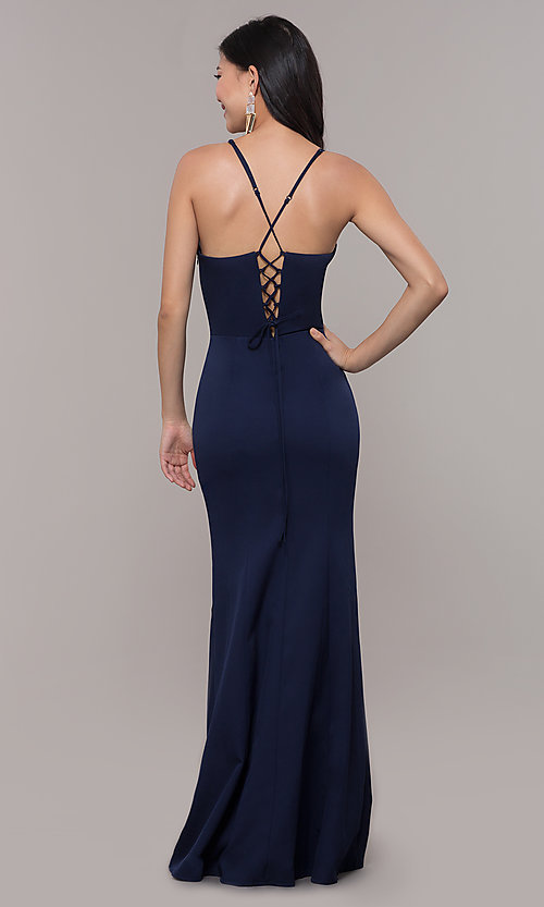 Image of long formal corset military ball dress by Simply. Style: LP-SD-27604 Detail Image 2