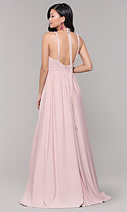 Image of empire-waist long formal prom dress by Simply. Style: SJP-SD-AS108 Detail Image 8