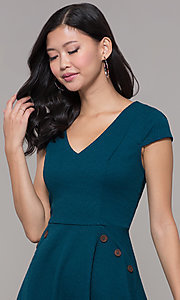 Image of cap sleeve short casual party dress.  Style: CT-1901SJ6BT1 Detail Image 1