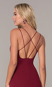 Image of multi-strap short holiday dress by Simply. Style: MCR-SD-2541 Detail Image 2