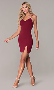 Image of multi-strap short holiday dress by Simply. Style: MCR-SD-2541 Detail Image 3