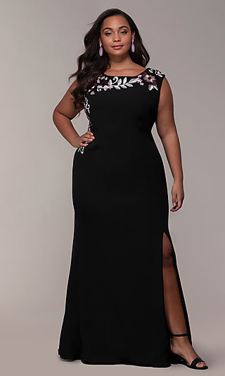 Formal Plus-Size Prom Dresses and Plus Evening Gowns