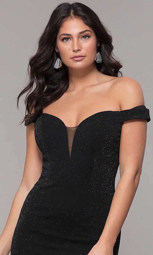 Image of mermaid off-the-shoulder long formal prom dress. Style: CLA-3788 Detail Image 1