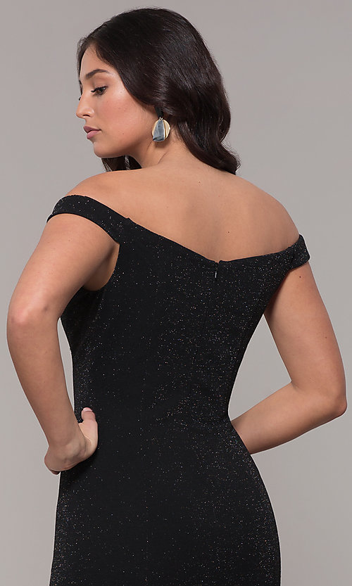 Image of mermaid off-the-shoulder long formal prom dress. Style: CLA-3788 Detail Image 2
