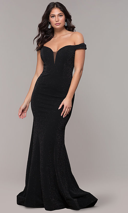 Image of mermaid off-the-shoulder long formal prom dress. Style: CLA-3788 Detail Image 3