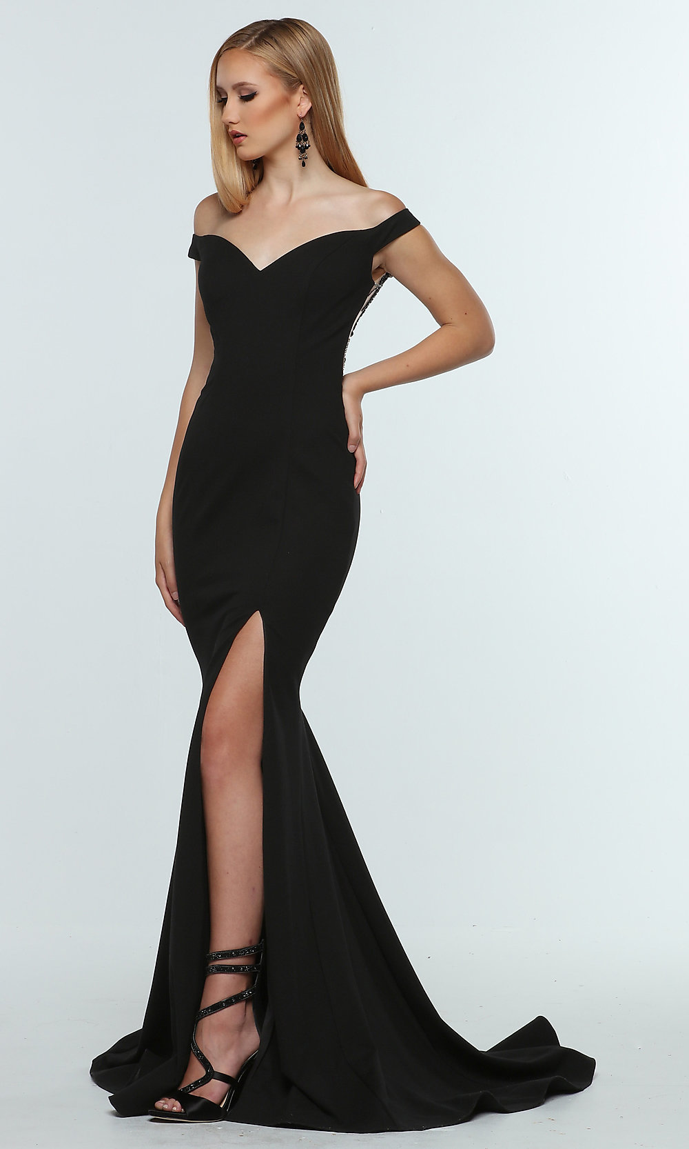 Ericdress Sheer Back Appliques Pearls Prom Dress | Prom