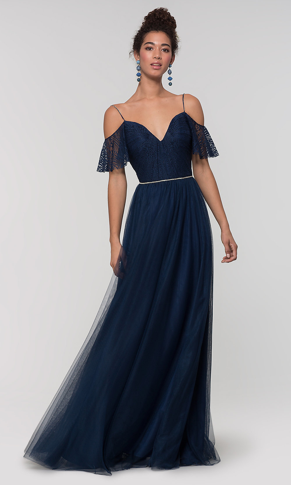 Tulle Bridesmaid Dress By Kleinfeld With Lace Bodice