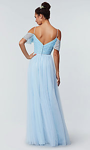 Image of tulle bridesmaid dress by Kleinfeld with lace bodice. Style: KL-200121 Detail Image 6