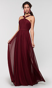 Image of stretch-chiffon Kleinfeld bridesmaid dress. Style: KL-200162 Detail Image 1