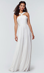 Image of stretch-chiffon Kleinfeld bridesmaid dress. Style: KL-200162 Detail Image 5