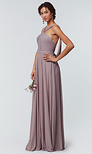 Image of stretch-chiffon Kleinfeld bridesmaid dress. Style: KL-200162 Detail Image 4