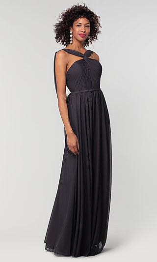 Stretch-Chiffon Kleinfeld Bridesmaid Dress