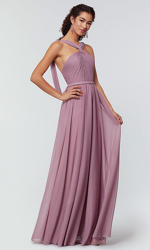Image of stretch-chiffon Kleinfeld bridesmaid dress. Style: KL-200162 Detail Image 2