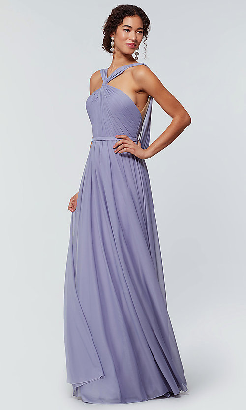 Image of stretch-chiffon Kleinfeld bridesmaid dress. Style: KL-200162 Front Image