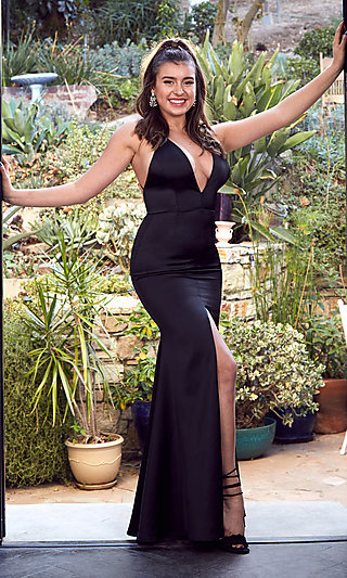Long Black Mermaid Formal Dress by Kalani Hilliker