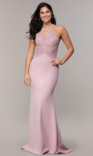 Long Mermaid Prom Dress with Embroidered Bodice