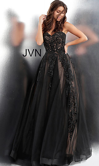 Long Ball Gown-Style Formal Gown from JVN by Jovani
