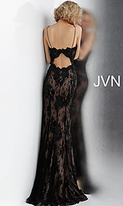 Image of JVN by Jovani embroidered long formal prom gown. Style: JO-JVN-JVN66971 Detail Image 4