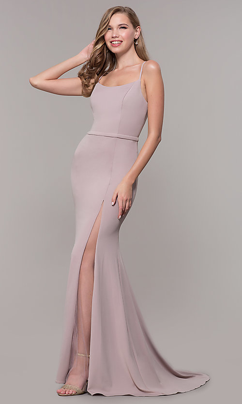 Image of long formal prom dress by Elizabeth K. Style: FB-GL2670 Front Image