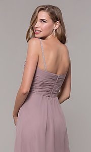 Image of long prom dress with beaded straps. Style: FB-GL2666 Detail Image 2