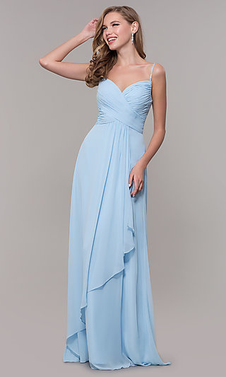 Long Prom Dress with Beaded Straps