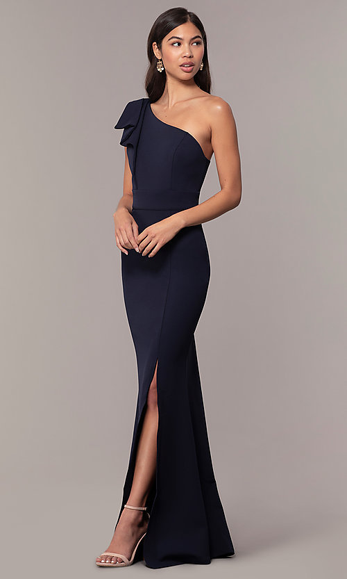8af1526a0971 Side Slit Mermaid One-Shoulder Formal Prom Dress