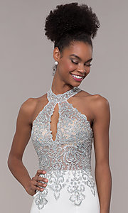 Image of JVNX by Jovani long embroidered-bodice formal dress. Style: JO-JVNX1259 Detail Image 6