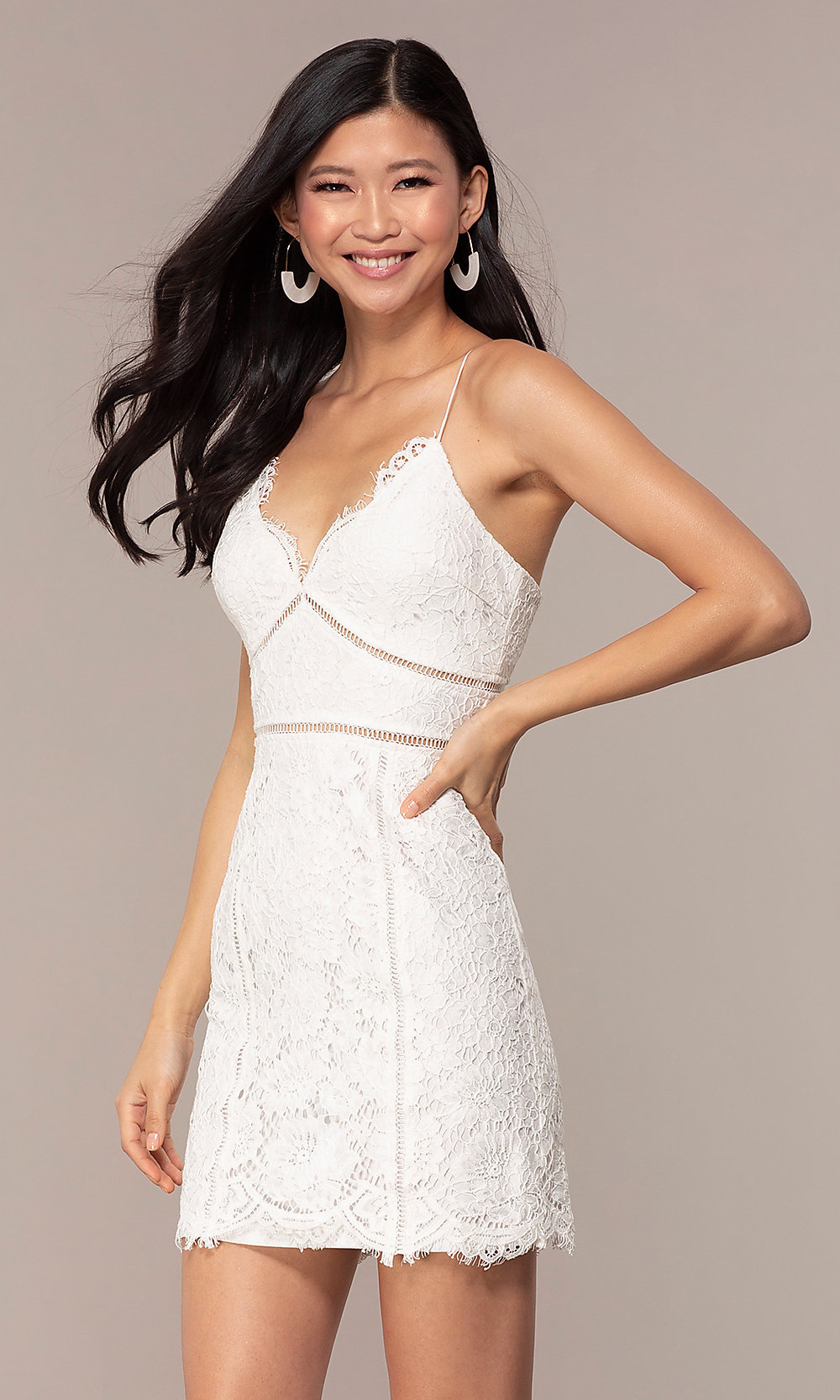 bdfc9dee43 ... white lace graduation party dress. Style  MT-. Tap to expand
